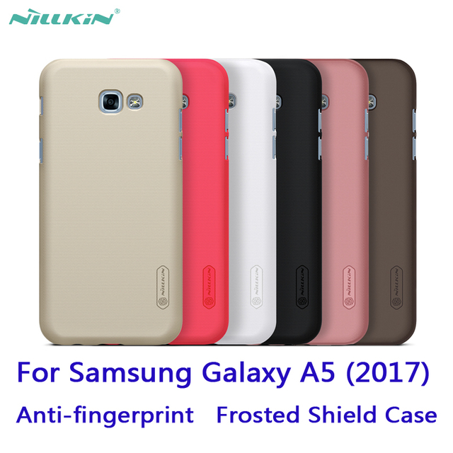 new style b1614 da7a5 US $7.19 |For Samsung Galaxy A5(2017) Case Nillkin Frosted Shield case hard  Back cover protective case Anti fingerprint free shipping on ...