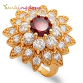 Yunkingdom Crazy Beautiful Women's Rings  Gold Plated Austrian Crystals Jewelry With Gift Box ALP0276