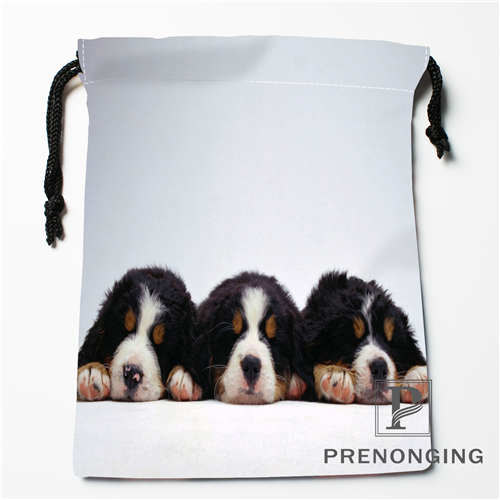 Custom Cute Dog Drawstring Bags Printing Fashion Travel Storage Mini Pouch Swim Hiking Toy Bag Size 18x22cm #171203@2-06