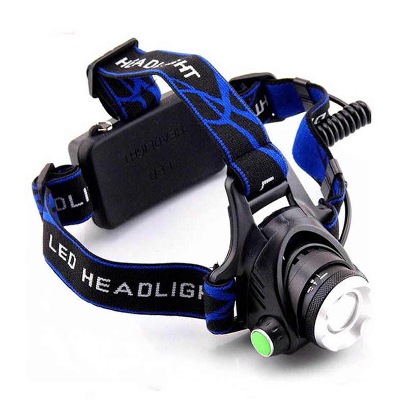 Waterproof Camping Headlight CREE T6 Zoomable LED Headlamp 18650 With AC Wall Charger Head Flashlight Lamp Lantern Torch Light