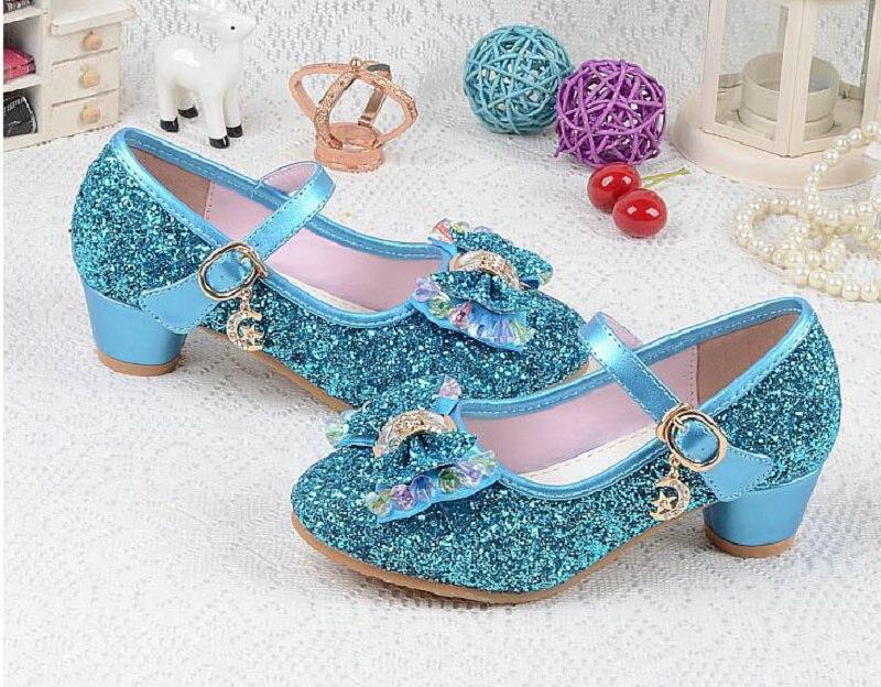 Novo Luxo Sandálias Gravata Borboleta Sapatos de Festa de Couro Meninas Crianças Crianças Princesa Sandálias Meninas Sapatos Sandálias de Salto Alto Sapatos de Casamento