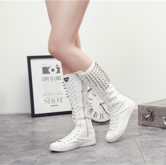 nouvelle mode toile talon des femmes chaussures avec fermeture glissi re lat rale lifed 5PriOC