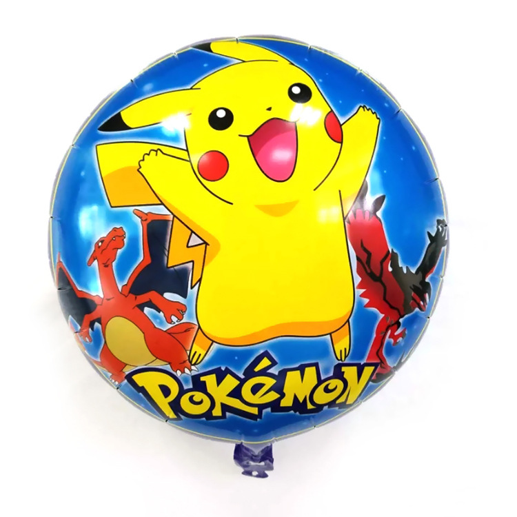 5pcs Free Shipping 18nch Round Pikachu Aluminum Balloons Children Toy Party Deco