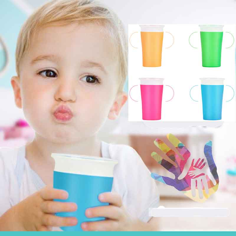 360-degrees-can-be-rotated-baby-learning-drinking-cup-with-double-handle-flip-lid-leakproof-infants-water-cups-bottle-t0365