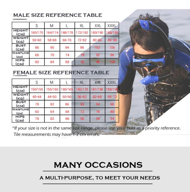 Man & Women Short Pants Plus-size 3MM Neoprene Scuba Diving Wetsuit Swimwear Swimming Surfing Diving Suit Keep-warm YW127.128