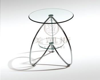 Toughened glass small tea table.. Sofa. Round side tables. toughened glass tea table stainless steel small square table the sofa side table flower