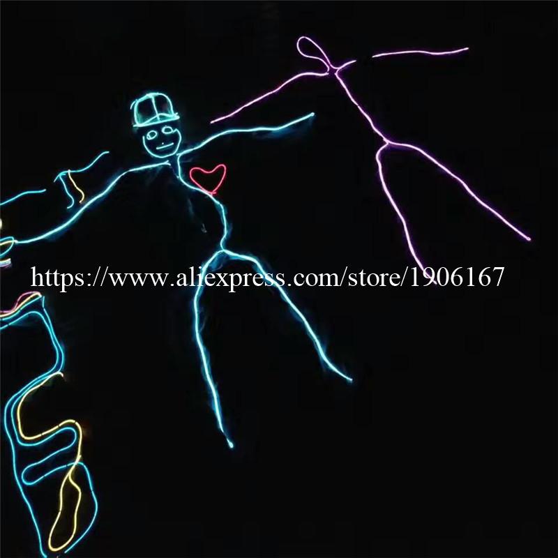 Tron Dance LED Clothing. Luminous Neon EL Wire Costume dance costume 03