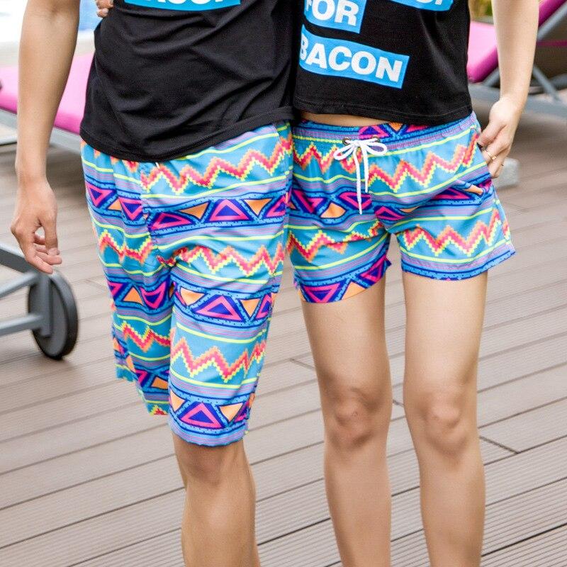 seaside liburan celana pendek cepat kering pantai pria dan wanita pasangan musim panas pencetakan pantyhose
