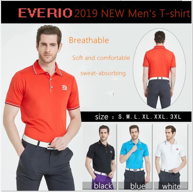 2019 printemps été Golf vêtements à manches courtes col à revers hommes T-shirt respirant à séchage rapide Golf sportswear t-shirts