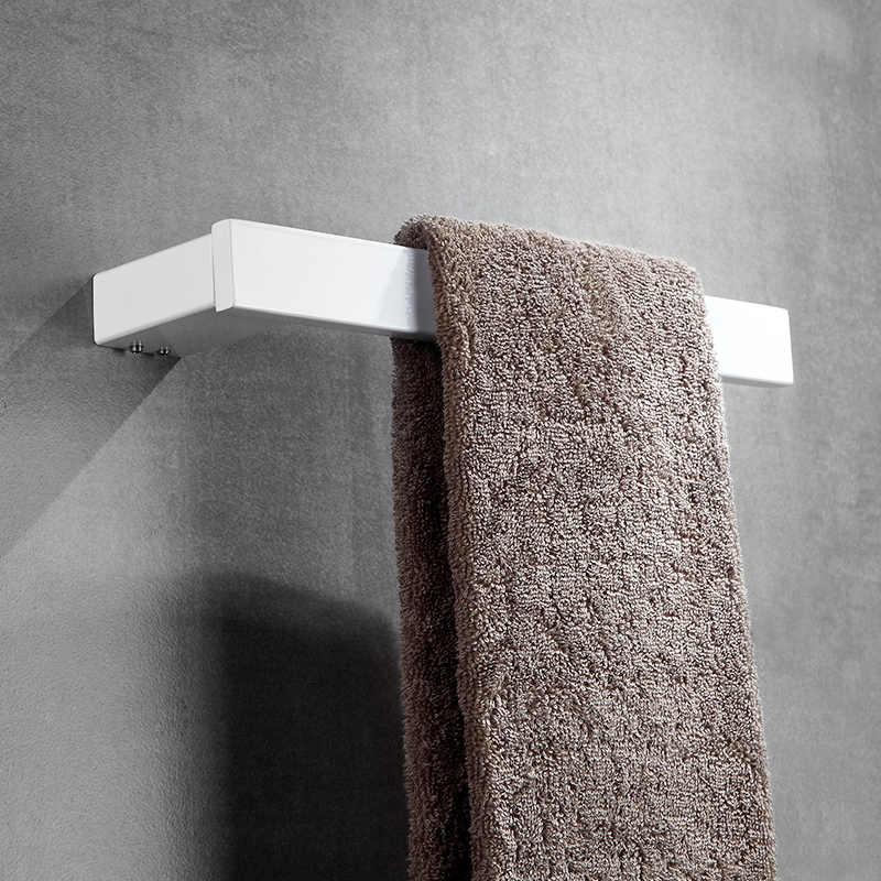 Fapully 白浴室付属品 4 ピースを設定します壁マウントセットシングルタオルバーローブフックホルダーハードウェア G120-4W