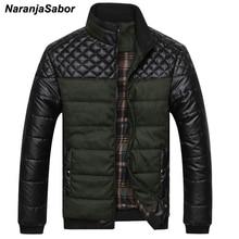 NaranjaSabor для мужчин s брендовая одежда 2018 зима толстые PU пальто Теплый мягкий повседневное мужчин s куртки мужской пальт