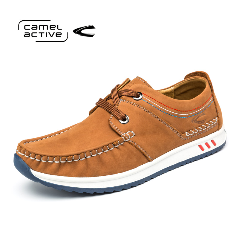 Camel Active New Mens Shoes Casual Shoes British Fashion Hot Sale Male Business Genuine Leather Lace Up Mens Shoes 166582017