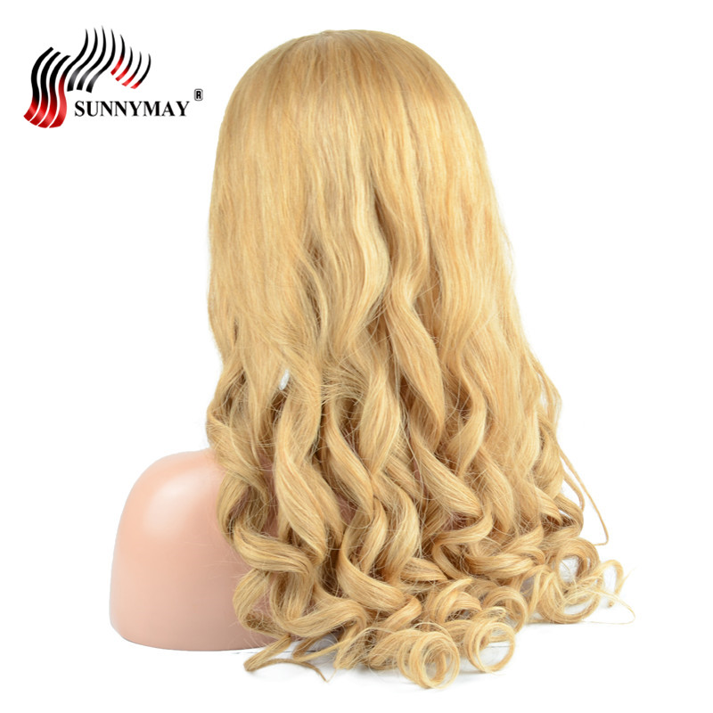 Sunnymay Pre Plucked Glueless Full Lace Wigs Human Hair With Baby Hair 27 Color Malaysian Virgin