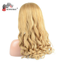 Sunnymay Pre Plucked Glueless Full Lace Wigs Human Hair With Baby Hair #27 Color Malaysian Virgin Hair Loose Wave