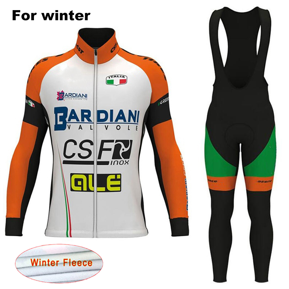2017 ALE Winter Pro Team Bicycle Jerseys Set BARDIANI Men`s Thermal Fleece Bike Clothes Cycling Clothing Ropa Maillot Ciclismo st peter s golden ale