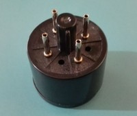 2pcs 베이클라이트 튜브 소켓 S8AE4-S4 튜브 앰프에 대 한 4 핀 좌석 튜브 소켓 실버 발 PCB