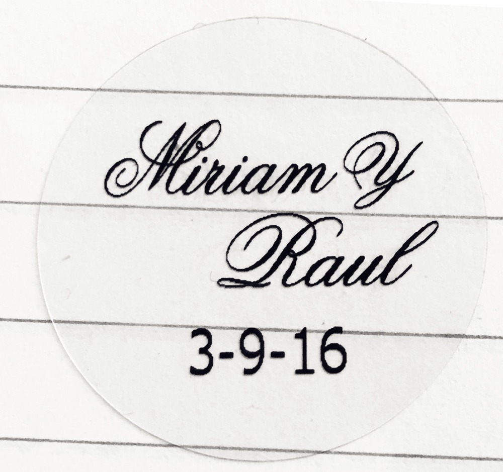 3cm customize Personalised clear Birthday baby shower Wedding ...