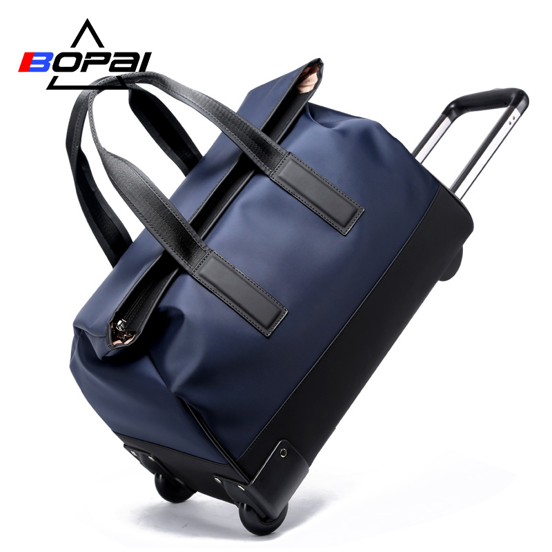 BOPAI High Quality Travel Bag On Wheels Women Rolling Luggage 20 Inches Men Trolley Bags Waterproof Hand Luggage duffle bags