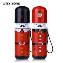 Lazybonnes child cartoon stainless steel vacuum cup bottle male womens lovers water