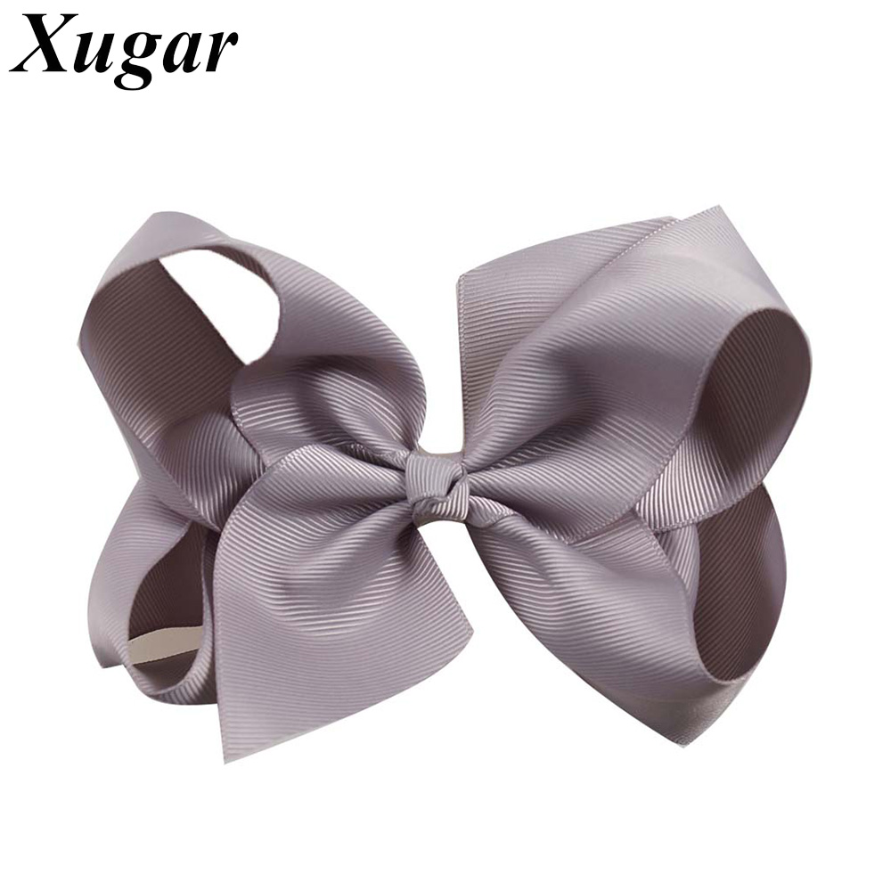 2 Pcs/lot 6'' Handmade Kids' Hair Bows with Alligator Clips For Children Girls Boutique Grosgrain Ribbon Hair Accessories 40pcs lot 30 colors 4inch hair bows kids girls hair clips boutique bows hairpins for kids children kids girl hair accessories