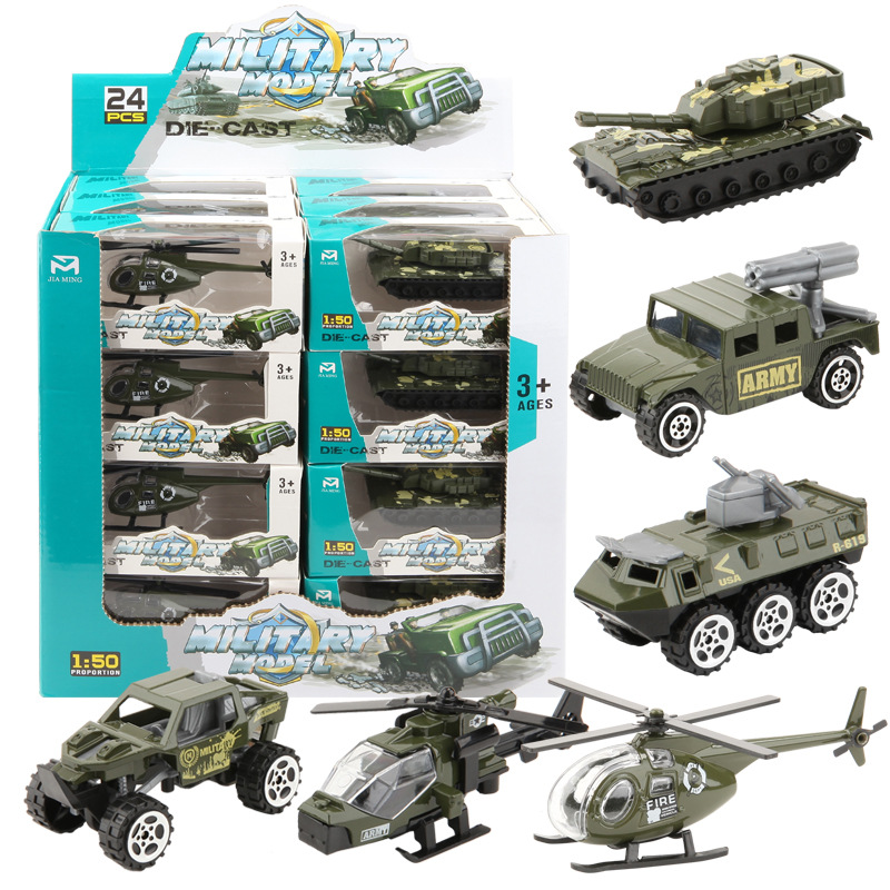 1:50 Alloy & ABS Military Model Simulation Car Car Tank Racing Helicopter Armored Vehicle Diecasts Birthday Gift Toys For Kids