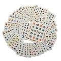 48 Hojas Mixta de Dibujos Animados Mariposa Decoración de Uñas Calcomanías de Transferencia de Agua Nail Stickers Tips Manicura Belleza Herramientas de Peinado A337-384
