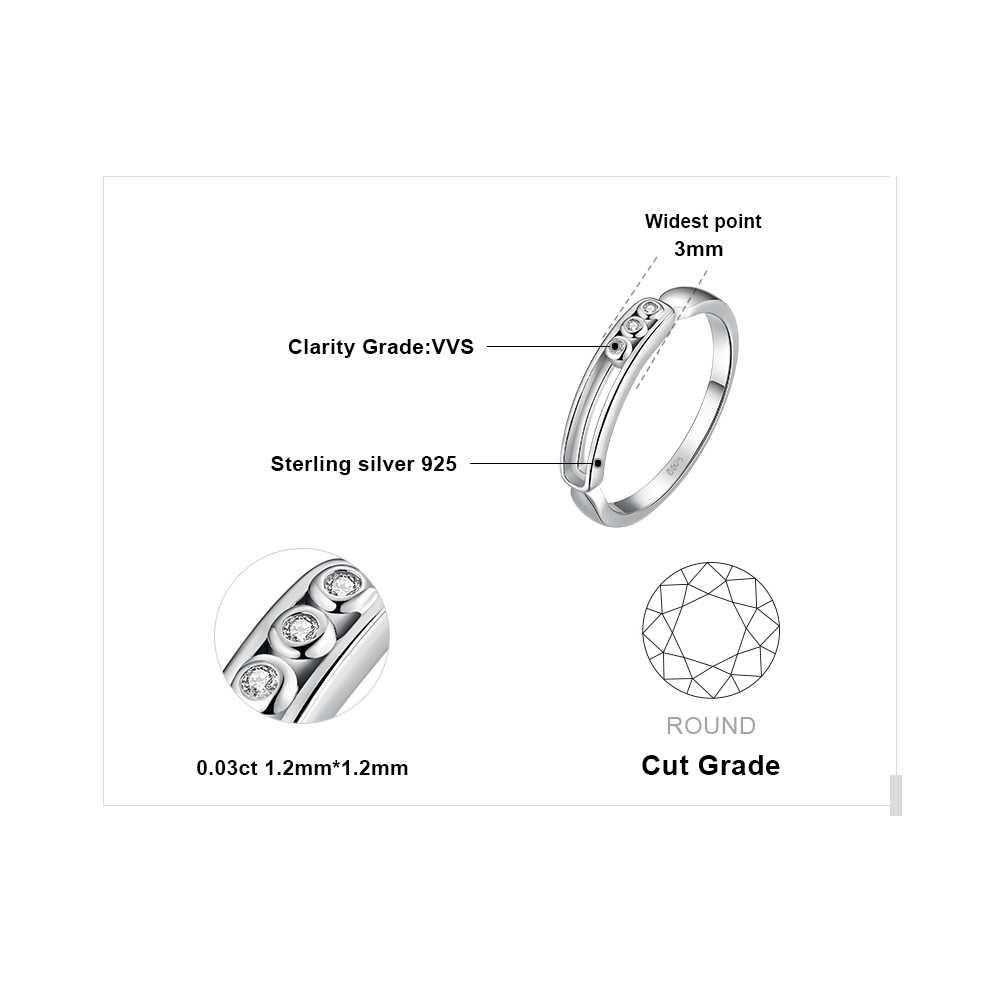 JewelryPalace Art Deco moderno Cubic Zirconia promesa anillos para las mujeres genuino Plata de Ley 925 de compromiso de boda de joyería fina