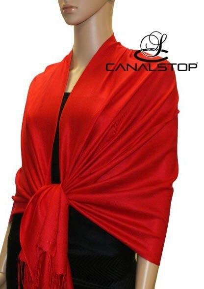Высокое Качество Красный женская Мерсеризованный Хлопок Пашмины Шарфы Сплошной Цвет Типпет 17 Цветов Негабаритных 190x70 см