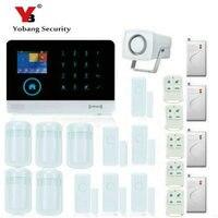 YoBang Security Wireless WiFi Home Safety System GSM GPRS RFID Alarm System Smoke Detector Impact Sensor And Door Motion Sensor.