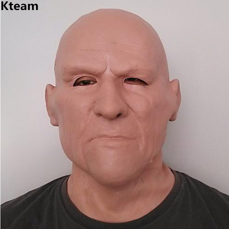 2019 Top Grade Natural Latex Realistic Full Head Face Mask Carnival Costume Theater Crossdress Adult Mask Old Man Mask oldman