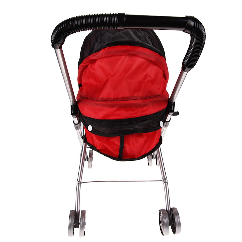 ABWE Best Sale Toy driven wheelbarrow Folding type tool Shopping strollers Still playing Playing over 3 years old (black and r