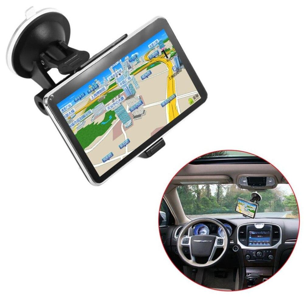 5 pouces TFT LCD affichage voiture Navigation dispositif GPS navigateur SAT NAV 8GB 560 haute sensibilité GPS récepteur amérique carte