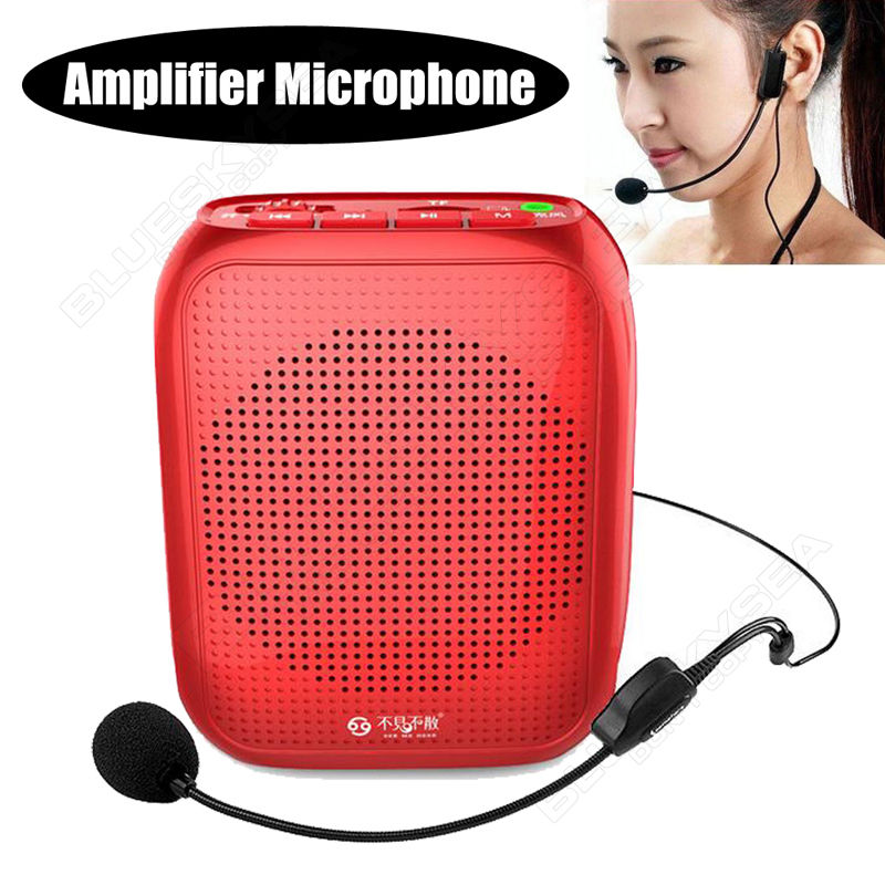 See Me Here T600 Wired 10W Speech Voice Amplifier HI-FI Sound Loudspeaker MP3 Player FM Radio Speaker w/Wired Microphone