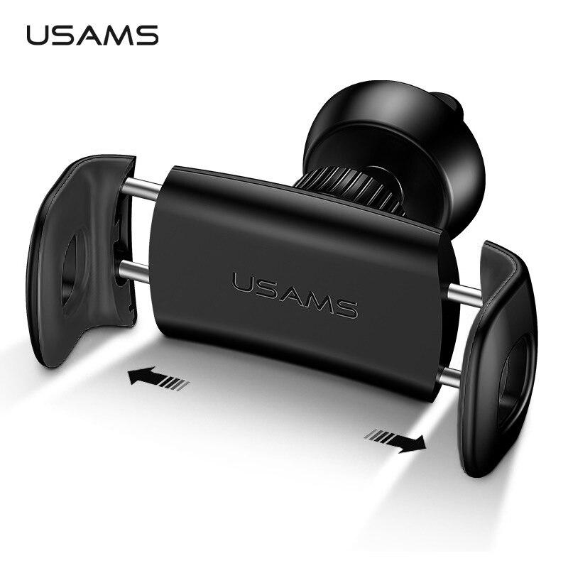 Автомобильный держатель мобильного телефона для Iphone 6 Sumsung автомобиль вентиляционное отверстие держатель USAMS 360 град. Ratotable Soporte Movil автомоби...