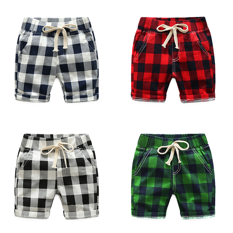 Mioigee Boys Shorts 2018 Fashion Plaid Shorts For Boys Summer Casual