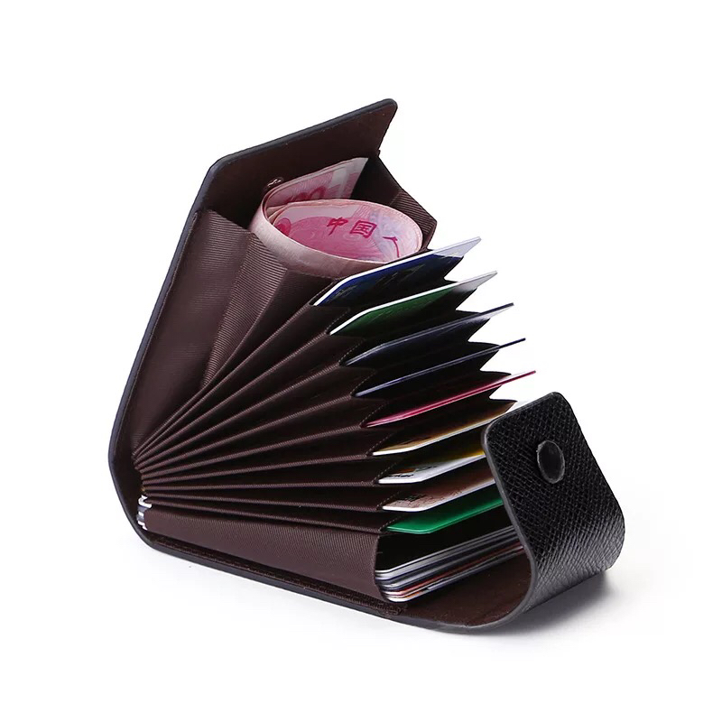 11 Cards Slots PU Credit Card Holder Men Women's Business Card Package Coin Pocket Unisex Hasp ID Card Cases