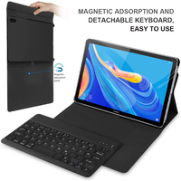 for Huawei MediaPad M6 10.8 2019 Tablet Spanish USA French Bluetooth Keyboard Detachable Keyboard Leather Magnetic Case