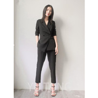 Custom Black Special Bussiness Formal Elegant Women Suit Set Blazers Pants Office Suits Ladies Pants Suits Trouser Suits
