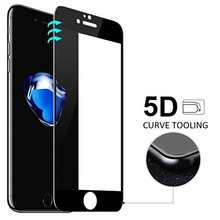 5D Full Cover Tempered Glass For iPhone X 8 7 6s &7 Plus 5D Curved Edge Screen Protector Film For iPhone 6 6S 7 8 Plus X