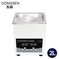 Digital Ultrasonic Cleaner 2L Washer Bath Lab Equipment Circuit Board Oil Parts Degreaser Ultrasound Heater Timer Machine