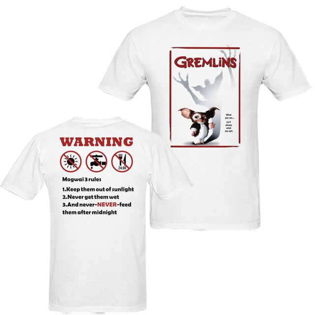 9bc1e2c9 Gremlins What you See is not You Got Mogwai Gizmo 3 rules Mens and Womens  Movie T Shirts size S-XXXL