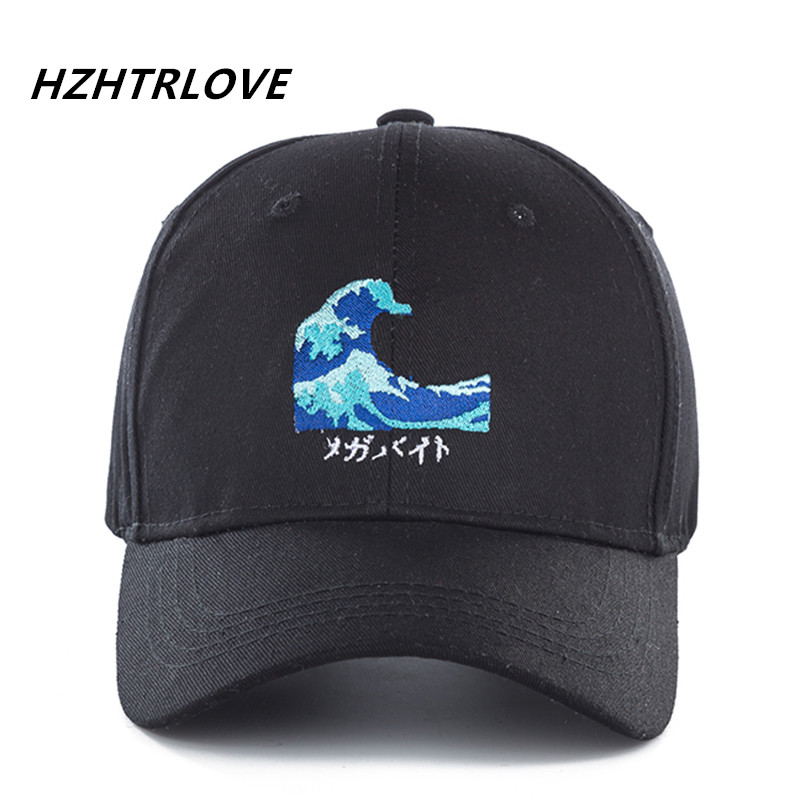 High Quality Cotton Waves Snapback Cap Baseball Cap For Men Women Hip Hop Dad Hat Bone G ...