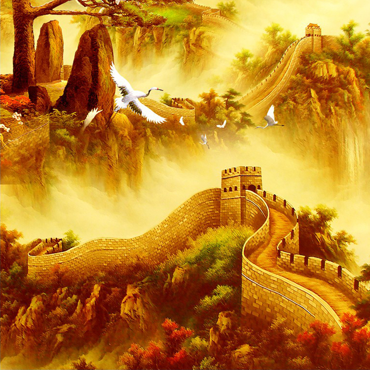 Perfect Great Wall Of China Art Festooning - Wall Art Design ...