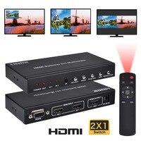 Iseebiz HDMI 2X1 бесшовные переключатель Экран с ИК пульт RS232 для консоли сплиттер Экран делитель Multi Viewer с PIP режим POP
