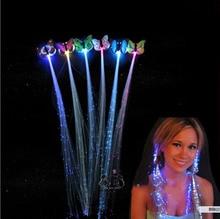 5Pcs LED Flashing Hair Braid Glowing Luminescent Hairpin Novetly Hair Ornament Girls Led Toys New Year
