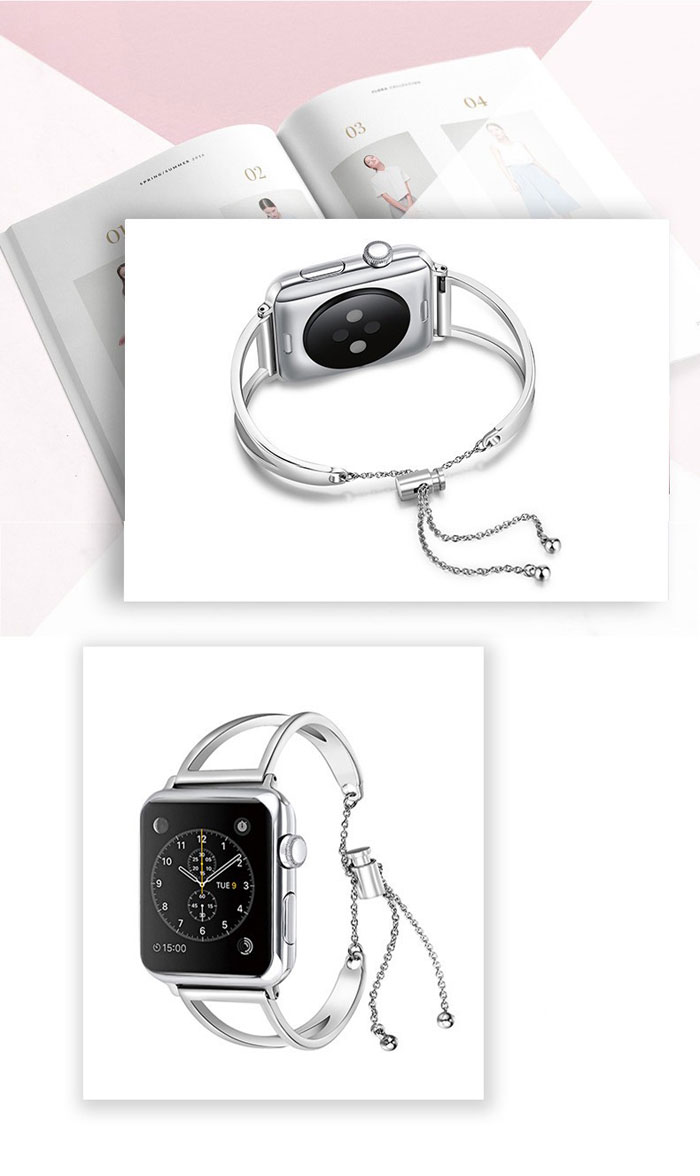 stainless steel strap for apple watch 4 5 band 44mm 42mm 40mm 38mm bracelet metal watchband for iwatch 5/4/3/2/1 belt CLOVER JEWELLERY