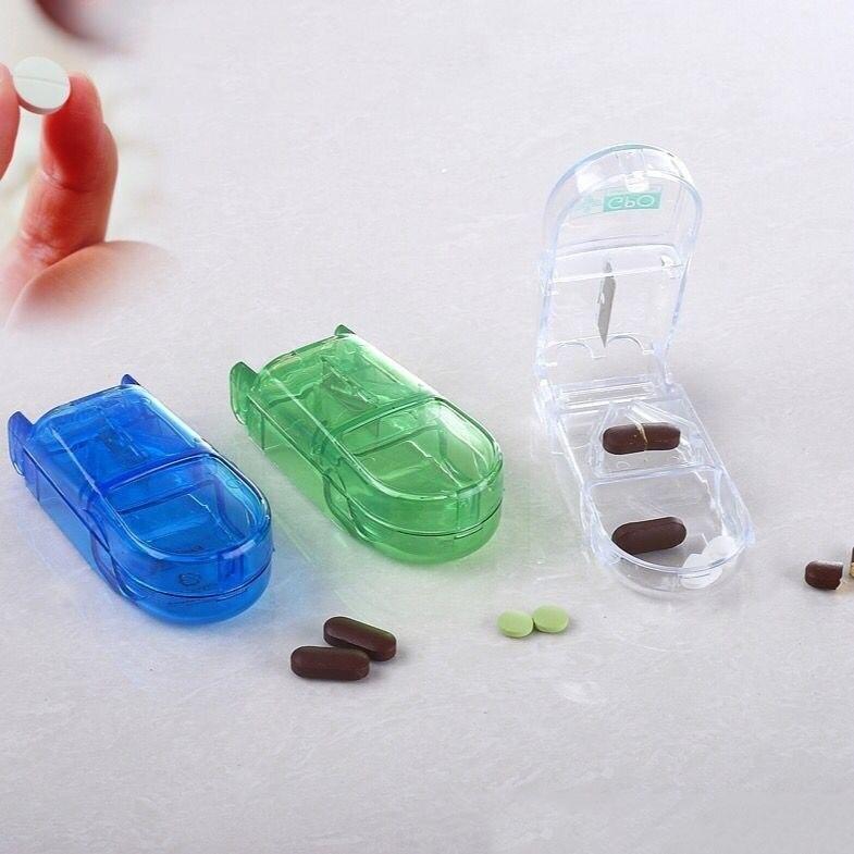 Case Folding Vitamin Medicine Drug Pill Box Case Organizer Tablet Container Cutting Drugs WS99