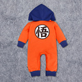 Baby Goku Costume Cotton Hoodies Long Sleeve Fashion New Born Baby Boy Clothes Cotton Baby Boy Romper  Infant Clothes