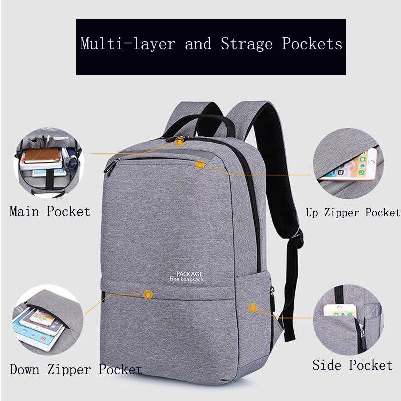 LIANGKA USB chargeur de téléphone sacs à dos pour Xiaomi ordinateur portable hommes femmes décontracté voyage Camping sac à dos cartable Mochila - 6