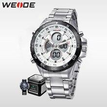 WEIDE luxury Men Sports Watch Waterproof Brand Fashion Casual Watches Quartz LCD Auto Date Alarm Wristwatches  Clock  WH1103 все цены